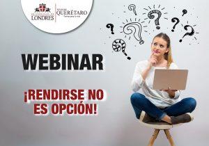 ¿Estás listo para el siguiente paso? Iniciar tu licenciatura después de la pandemia es todo un reto. Regístrate a nuestro webinar gratuito. !Rendirse no es opción!