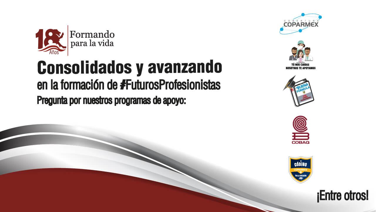 UDL 18° Aniversario - Consolidando y avanzando en la formación de futuros profesionistas. Pregunta por nuestros programas de apoyo.